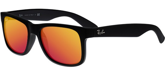 Ray-Ban JUSTIN RB 4165 BLACK RUBBER/RED ORANGE
