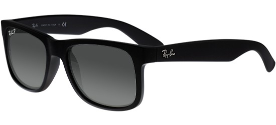 Ray-Ban JUSTIN RB 4165 BLACK RUBBER/GREY SHADED