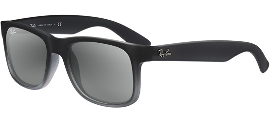 Ray-Ban JUSTIN RB 4165 SEMI TRANSPARENT GREY SHADED RUBBER/GREY SHADED