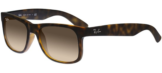 Ray-Ban JUSTIN RB 4165 HAVANA RUBBER/BROWN SHADED