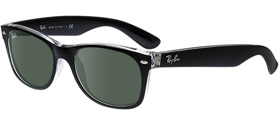 Ray-Ban NEW WAYFARER RB 2132 BLACK CRYSTAL/G-15 CLASSIC GREEN