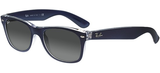 Ray-Ban NEW WAYFARER RB 2132 MATTE BLUE CRYSTAL/GREY SHADED