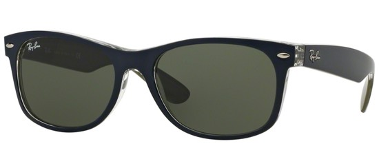 Ray-Ban NEW WAYFARER RB 2132 MATTE BLUE/G-15 CLASSIC GREEN