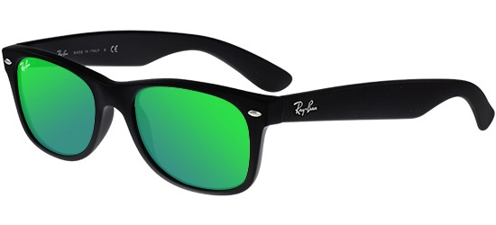 Ray-Ban NEW WAYFARER RB 2132 MATTE BLACK/GREEN