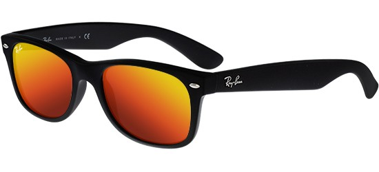 Ray-Ban NEW WAYFARER RB 2132 MATTE BLACK/ORANGE