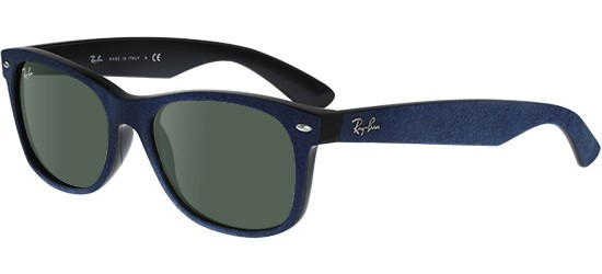 Ray-Ban NEW WAYFARER RB 2132 BLUE ALCANTARA/G-15 CLASSIC GREEN