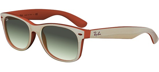 Ray-Ban NEW WAYFARER RB 2132 MATTE BEIGE/GREEN SHADED