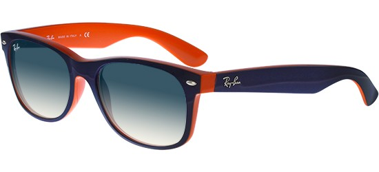 Ray-Ban NEW WAYFARER RB 2132 DARK BLUE ORANGE/BLUE SHADED