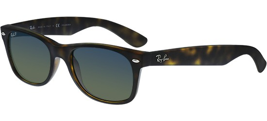 Ray-Ban NEW WAYFARER RB 2132 MATTE HAVANA/BLUE GREEN SHADED