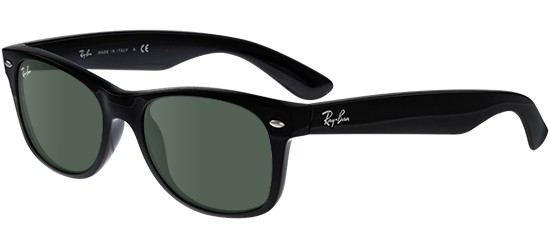 Ray-Ban NEW WAYFARER RB 2132 BLACK/G-15 CLASSIC GREEN