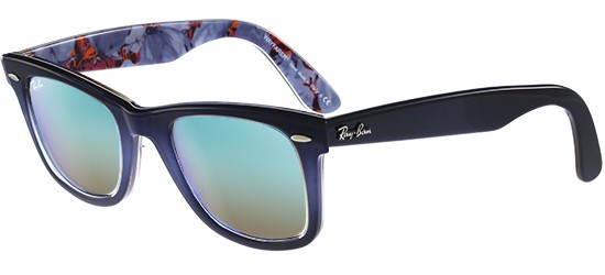 Ray-Ban ORIGINAL WAYFARER RB 2140 GREY BLUE SHADED/CRYSTAL BLUE MIRROR SHADED
