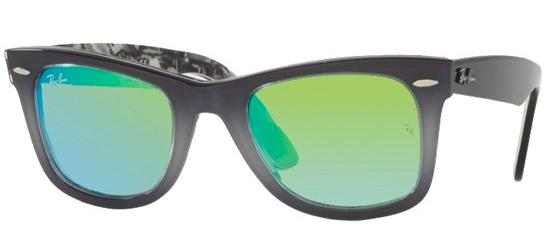 Ray-Ban ORIGINAL WAYFARER RB 2140 GREY SHADED/CRYSTAL GREY GREEN MIRROR SHADED