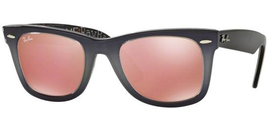 Ray-Ban ORIGINAL WAYFARER RB 2140 SMOKE SHADED/CRYSTAL GREY COPPER MIRROR