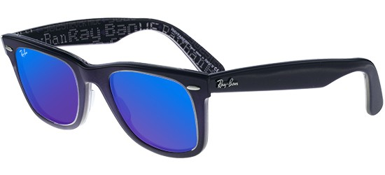 Ray-Ban ORIGINAL WAYFARER RB 2140 BLUE SHADED/CRYSTAL GREY BLUE MIRROR
