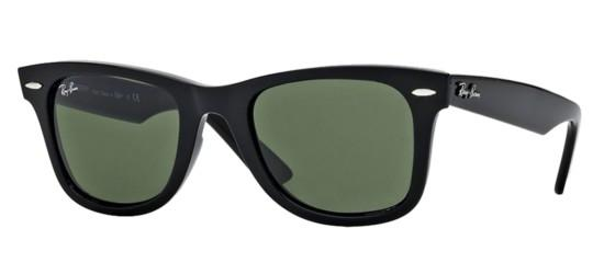 Ray-Ban ORIGINAL WAYFARER RB 2140 BLACK/CRYSTAL GREY GREEN