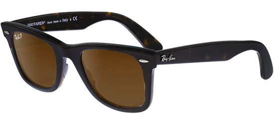 Ray-Ban ORIGINAL WAYFARER RB 2140 HAVANA/CRYSTAL BROWN POLARIZED