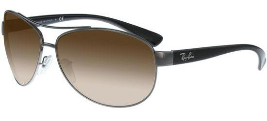 Ray-Ban RB 3386 BLACK RUTHENIUM/BROWN SHADED