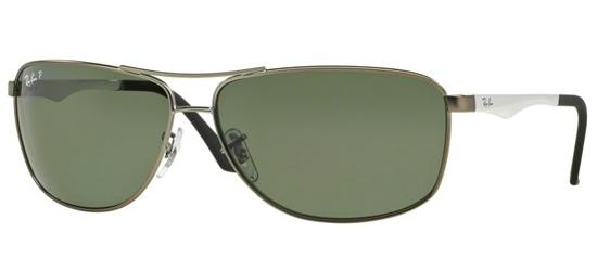 Ray-Ban RB 3506 MATTE RUTHENIUM/GREY GREEN POLARIZED