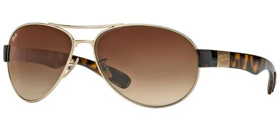 Ray-Ban RB 3509 GOLD HAVANA/BROWN SHADED