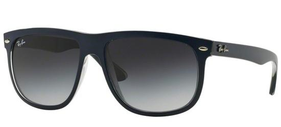 Ray-Ban RB 4147 MATTE BLUE/GREY TRANSPARENT/DARK GREY SHADED