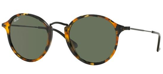 Ray-Ban ROUND FLECK RB 2447 SPOTTED BLACK HAVANA/G-15 CLASSIC GREEN