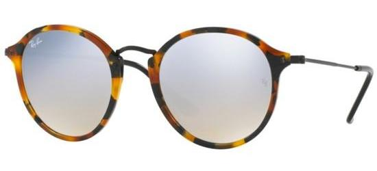 Ray-Ban ROUND FLECK RB 2447 SPOTTED HAVANA/GREY SILVER MIRROR