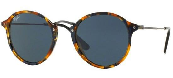 Ray-Ban ROUND FLECK RB 2447 SPOTTED BLUE HAVANA/CLASSIC BLUE GREY