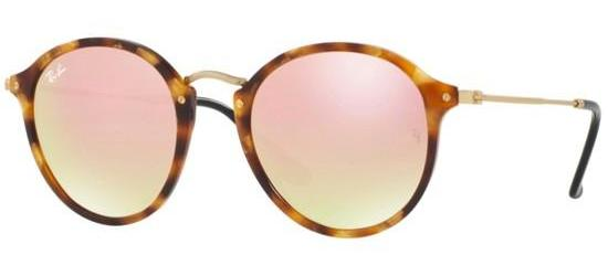 Ray-Ban ROUND FLECK RB 2447 SPOTTED BROWN HAVANA/COPPER MIRROR SHADED
