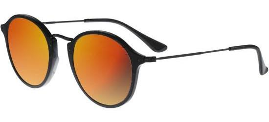 Ray-Ban ROUND FLECK RB 2447 SHINY BLACK/GREY RED MIRROR SHADED