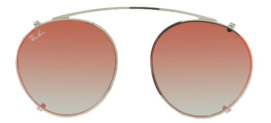Ray-Ban ROUND FLECK RX 2447V SILVER/GREY RED MIRROR