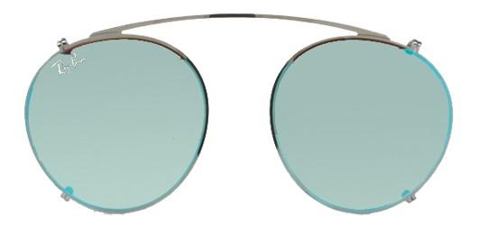 Ray-Ban ROUND FLECK RX 2447V RUTHENIUM/GREY BLUE MIRROR