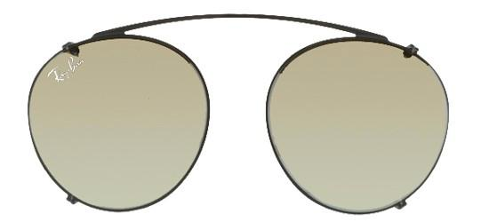 Ray-Ban ROUND FLECK RX 2447V BLACK/GREY GOLD MIRROR