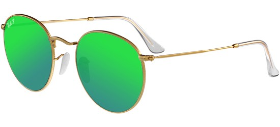 Ray-Ban ROUND METAL RB 3447 GOLD/GREEN