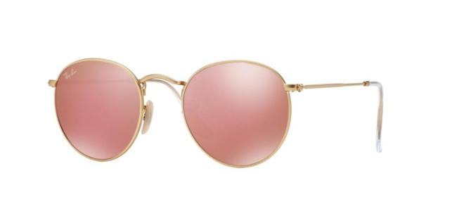ray ban 3447 round metal rose