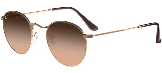 Ray-Ban ROUND METAL RB 3447 COPPER/PINK BROWN SHADED