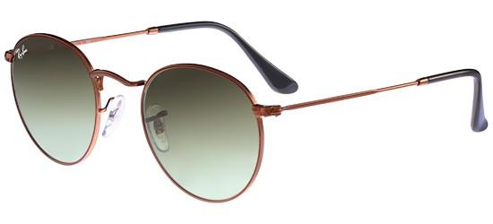 Ray-Ban ROUND METAL RB 3447 BRONZE/CRYSTAL BROWN GREEN SHADED