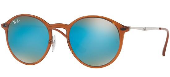 Ray-Ban ROUND RB 4224 SHINY BROWN/BROWN SHADED