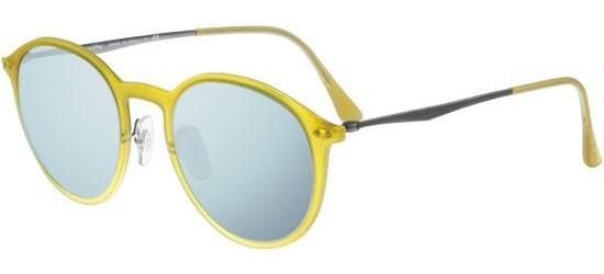 Ray-Ban ROUND RB 4224 MATTE YELLOW/BLUE SILVER MIRROR