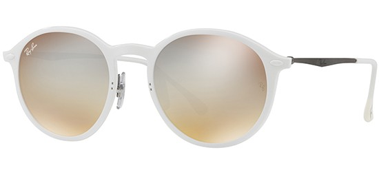 Ray-Ban ROUND RB 4224 WHITE/BROWN SHADED SILVER