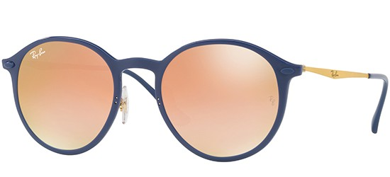 Ray-Ban ROUND RB 4224 BLUE/GREEN SHADED BROWN PINK
