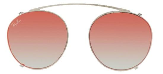 Ray-Ban ROUND RX 2180V SILVER/GREY RED MIRROR