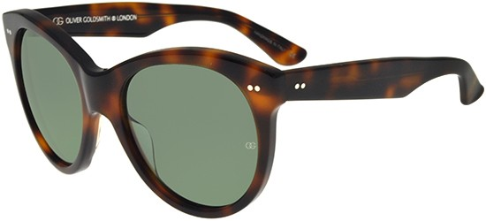 Oliver Goldsmith MANHATTAN 1960 DARK TORTOISESHELL/GREEN