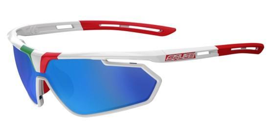 Salice 014ITA Sonnenbrille, Schwarz ITA/RW Blau
