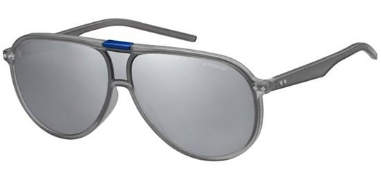 Full Lens Aviator Sunglasses in Grey Mirror Polarised PLD 6025/S TJD 99 Polaroid KFCKuIyP