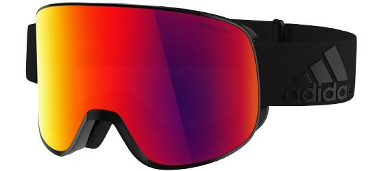 Adidas PROGRESSOR C AD81 MATTE BLACK/RED MIRROR POLARIZED (ANTIFOG) CAT.3