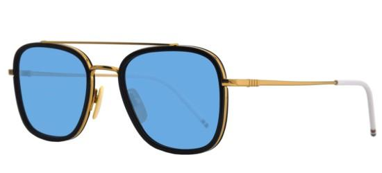 4864c28bf061 Thom Browne Tb-800 Gold Navy men Sunglasses online sale