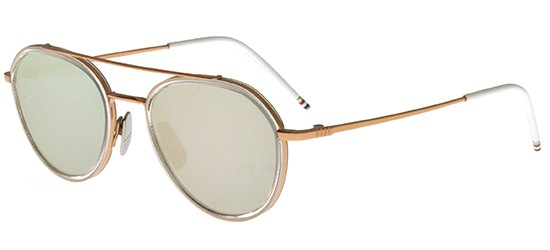 Thom Browne sunglasses TB-801 ROSE GOLD CLEAR