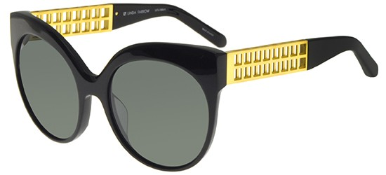 Linda Farrow LINDA FARROW 388 BLACK YELLOW GOLD