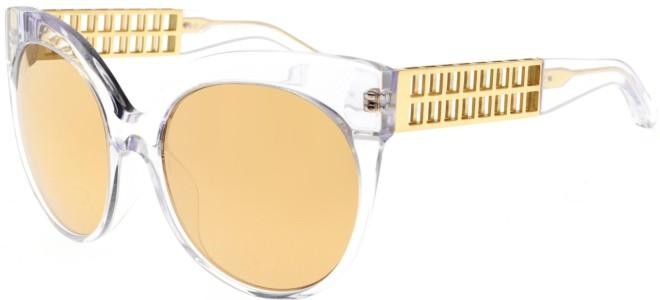Linda Farrow zonnebrillen LINDA FARROW 388 CLEAR YELLOW GOLD