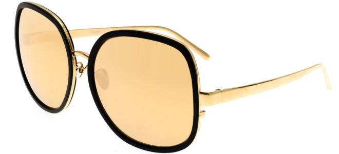 Linda Farrow sunglasses LINDA FARROW 444 BLACK ALUMINIUM YELLOW GOLD